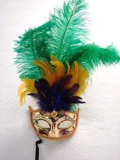 Mardi Gras Eye Mask Gold