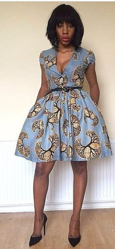 Image result for african print dresses for office