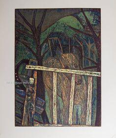 Eateban Fekete - Original Limited Edition Woodcut – Art & Vintage Store Ltd Vintage Prints, Vintage Art, Wall Art Prints, Fine Art Prints, Woodcut Art, Sign Printing, Wood Engraving, Affordable Art, Limited Edition Prints