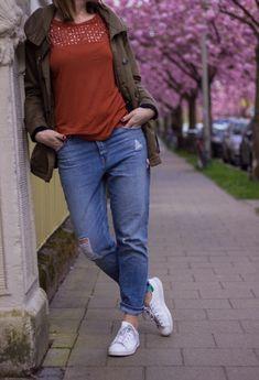 Parka Boyfriend Jeans Outfit