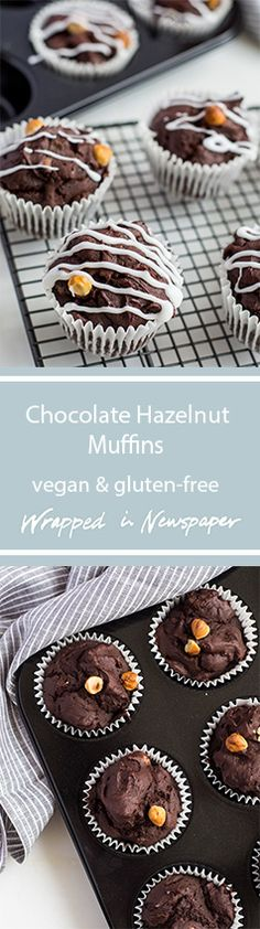 Super chocolatey vegan and gluten-free muffins.
