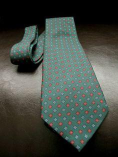 E Marinella Napoli Hunter Green Silk Tie Hand Made in Italy | eBay