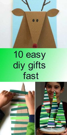 10 easy diy gifts fast Easy Diy Gifts, Diy Tutorial, Toys, Cards, Map, Playing Cards, Maps