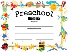 Free Printable Preschool Diploma