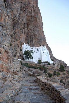 The Monastery of Panagia Hozoviotissa, Amorgos island, Greece