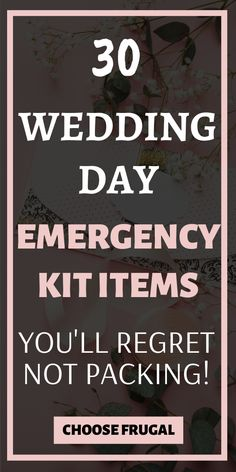 These wedding day emergency kit items are essential for any bride. Don't be caught off guard on your wedding day with these survival items! Budget Wedding, Wedding Tips, Wedding Reception, Wedding Planner, Reception Ideas, Emergency Kit Items, Survival Items, Bridesmaid Tips, Cheap Wedding Decorations