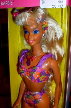 Barbie Glitter Beach. Every 80s Barbie has a ton of blue eyeshadow on!! Jus' saying. Had this Barbie. :)