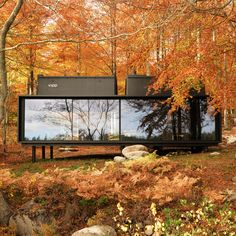 """Vipp prefabricated cabins designed as """"battery-charging stations for humans"""""""