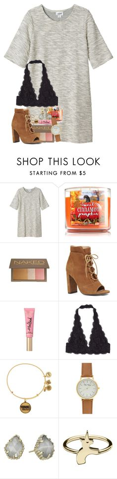 """""""#TS6"""" by ellaswiftie13 ❤ liked on Polyvore featuring Monki, Urban Decay, Nine West, Too Faced Cosmetics, Alex and Ani and Kendra Scott"""