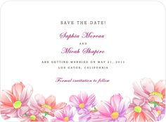 Colorful Watercolor Floral Save The Dates Card HPS051