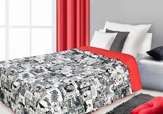 Luxusní bílo červené přikrývky na jednolůžko Bed, Furniture, Home Decor, Decoration Home, Stream Bed, Room Decor, Home Furnishings, Beds, Home Interior Design
