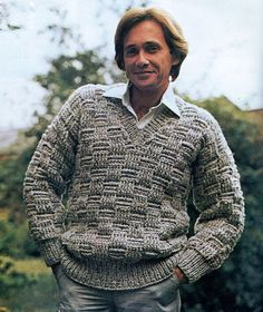 Hey, I found this really awesome Etsy listing at https://www.etsy.com/listing/227863055/mens-retro-v-neck-basketweave-sweater