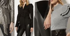 Jacquard gold tailoring, vinyl wrap skirts, silver velvet slips... Karen Millen's latest collection has a decidedly fashionable edge. The brand is still a hero for smart workwear hits – we love structured military coats and day-to-night knitwear – but it's the party-ready pieces that really stand out.