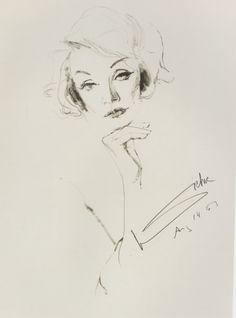 The Stars in His Eyes - Bachardy's portrait of Marlene Dietrich.