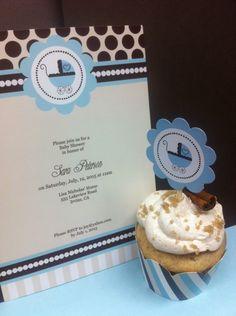 Blue Baby Shower Invitations