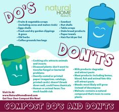 Compost Bins Do's & Don'ts.  The best things to stick in your kitchen compost.   #kitchen #Compost #Garden