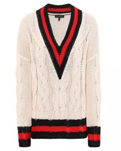 9c19948d491 Buy Rag and Bone Emma V-Neck Jumper Colour  White from luxury boutiques at  Atterley today.