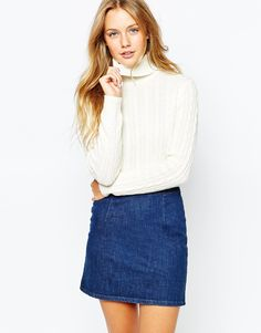 Roll neck jumpers are my favourites for this season. Great for layering and perfect to combine with leather culottes and long-line blazers. Find it here: http://asos.do/RnosMu