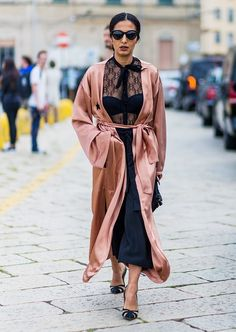 The 15 Most Elaborate Looks From Milan Fashion Week's Streets via @WhoWhatWearUK #blush