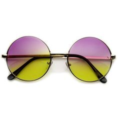 b59f73f2dd Retro Lennon Inspired Round Multi Color Rainbow Lens Sunglasses 9204