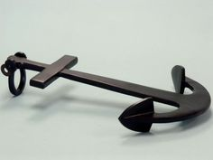 """Aluminum Anchor W/Cross Bar 25"""" from Handcrafted Beach Decor - In stock and ready to ship"""