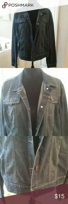 Strechy jean jacket Size 16/18  good condition Faded Glory Jackets & Coats Jean Jackets