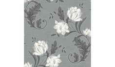 Aliona floral wallpaper in grey from Arthouse. Medium weight paper with a fabric effect texture.Sits with Quickshop code 541152, Aliona stripe grey wallpaper for a fully complimentary look.Approx Drop 10m x W 52cm