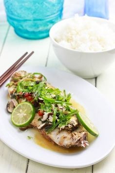 Steamed Fish with Lime and Chilies