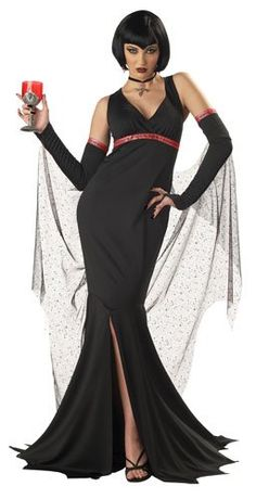 Shop Immortal Seductress Vampire Ladies Fancy Dress Halloween Gothic Costume Outfit (Women: Free delivery and returns on eligible orders of or more. Gothic Vampire Costume, Vampire Costumes, Sexy Halloween Costumes, Halloween Fancy Dress, Girl Costumes, Adult Costumes, Costumes For Women, Costume Ideas, Halloween Ideas