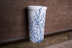 Coral Ceramic Wine Cooler by 3GirlsandaKiln on Etsy