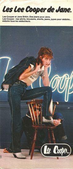 Jane Birkin for Lee Cooper jeans 1978 | exfandebirkin.com.