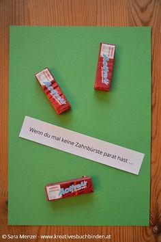 Wenn du mal keine Zahnbürste parat hast ... Wenn Buch Ideen   Bastelanleitung   Geschenkidee
