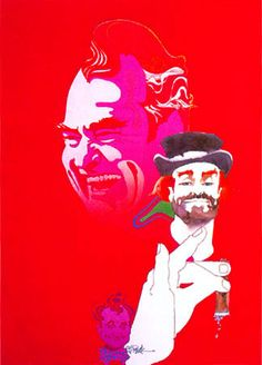 Red Skelton in TV Guide cover by Bob Peak Bob Peak, Red Skelton, Send In The Clowns, Commercial Art, Great Tv Shows, Tv Guide, Creative Inspiration, Book Design, Comedians