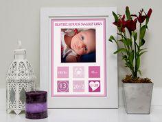 Quadro bebê personalizado! www.osapoeaprincesa.com.br