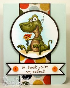 """Paper Perfect Designs by Kim O'Connell: Kraftin' Kimmie Stamps """"Cute-a-saurus"""""""