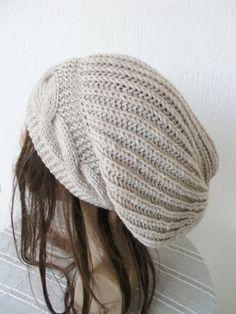 Hand Knit Hat Womens hat   Slouchy Beanie  Winter  Hat   by Ebruk, $40.00