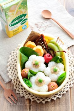 Bite-sized Sushi Flower Bento Lunch © あ~るママさんの弁当