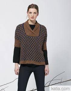 Book Woman Concept 4 Autumn / Winter | 34: Woman Sweater | Brown / Dark blue