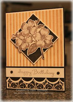 handmade card from Operation Write Home Sketch #137