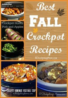 These are the Best Fall Crockpot Recipes to start making right now in your slow cooker for dinner!
