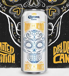 Corona's Day of the Dead cans designed by Zulu Alpha Kilo.