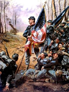 3rd U.S. Infantry at Gettysburg by Don Troiani