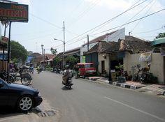 Street Scene outside Kraton, Yogyakarta, Java, Indonesia