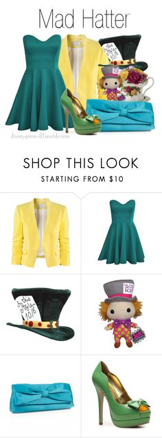 """""""Mad Hatter"""" by disney-villains ❤ liked on Polyvore featuring H&M, Royal Albert, Funko, Debut and C Label"""