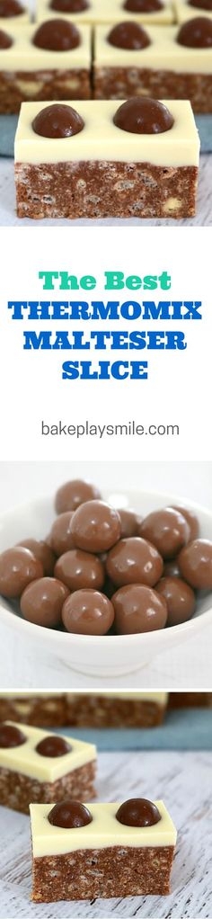 Malteser Slice – C… It's no surprise that this is the most popular recipe on Bake Play Smile. I love this No-Bake Malteser Slice so much… and have made it about a zillion times! Baking Recipes, Dessert Recipes, Rice Recipes, Cake Stall, Delicious Desserts, Yummy Food, Malteser Slice, Malteser Cupcakes, Thermomix Desserts