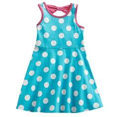 Jumping Beans Polka-Dot Skater Dress - Toddler