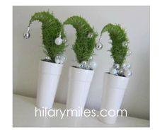grinch christmas trees  - small centerpiece idea