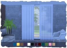Sanela Curtain Set at Pixel Shrine – Devilicious • Sims 4 Updates