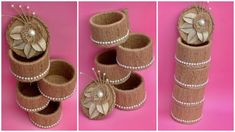 DIY Jute Rope Jewellery Organizer/ Handmade Burlap Rope Organizer