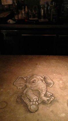 elephant #chang+ noiiii ..cute (I so love David Zinn's work - M)